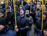 Ukrainian Nationalists Hurl Stuffed Pigs at President's Administr ..