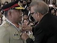 President Arif Alvi confers military, civil awards to different p ..