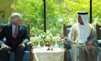 حاكم رأس الخيمة يستقبل السفير الاسترالي