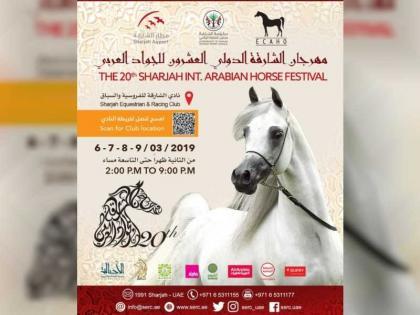 مهرجان الشارقة الدولي العشرون للجواد العربي ينطلق غدا