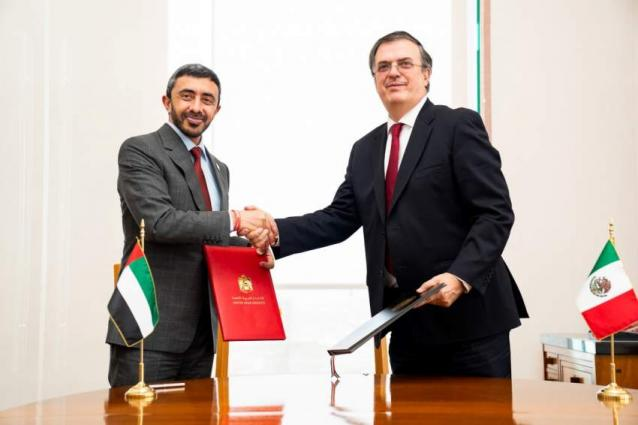 Abdullah bin Zayed, Mexican counterpart discuss boosting relations