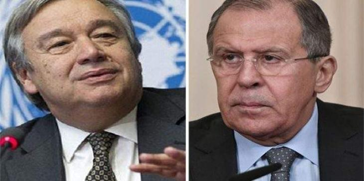 Lavrov, Guterres Discussed Int'l Agenda by Phone - Russian Foreign Ministry