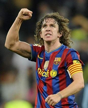 Barcelona footballer Carles Puyol arrives in Karachi