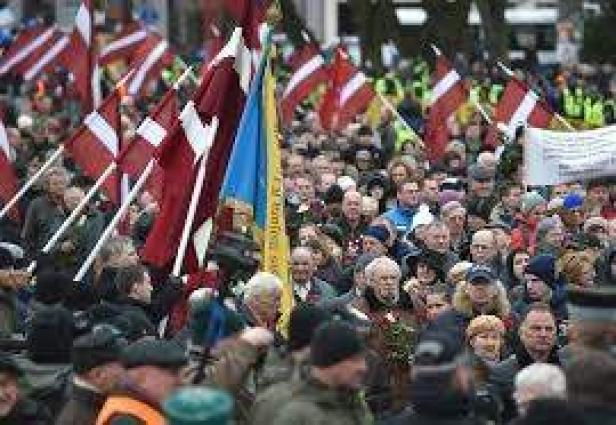 Over 1,000 People Took Part in Waffen-SS Veterans March in Latvian Capital on Saturday