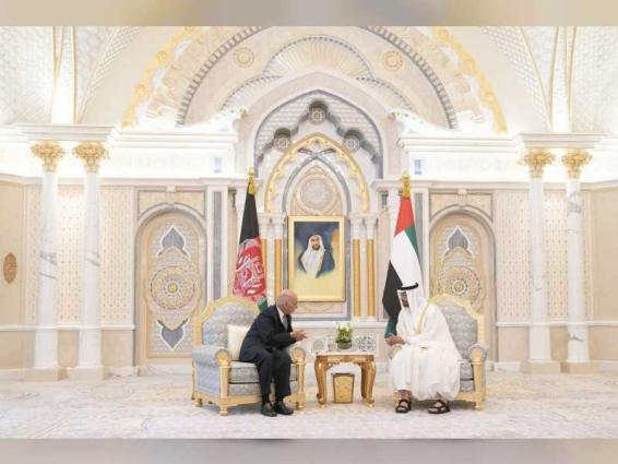 Mohamed bin Zayed, President Ghani discuss cooperation
