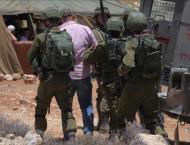 Israel arrests 10 Palestinians in West Bank