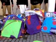 Two kites sellers held with 3,075 kites in Sialkot