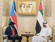 Mohamed bin Zayed, President of South Sudan review accelerating r ..