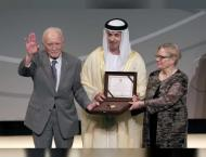 Hazza bin Zayed honours winners of Sheikh Zayed Book Award