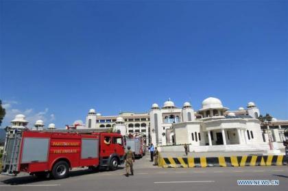 إندلاع حريق في ديوان رئاسة وزراء باكستان في العاصمة إسلام آباد