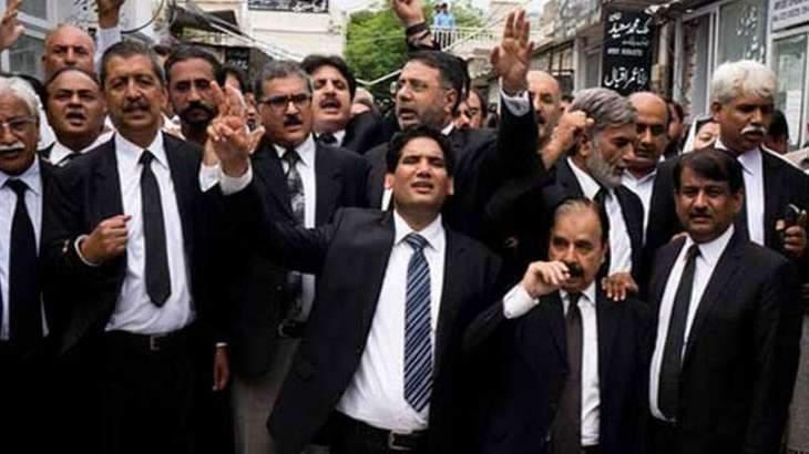 Bar Association observe protest in Abbottabad