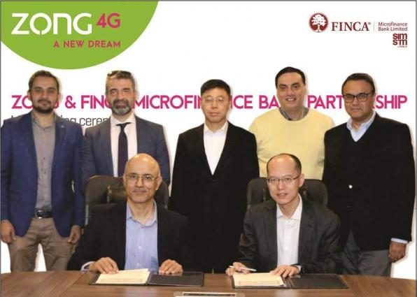 Zong 4G and FINCA Microfinance Bank to digitally empower Corporate Organizations across Pakistan