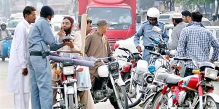 30 vehicles challaned, two impounded in Sargodha