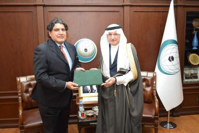 Ambassador of Pakistan Submits His Credentials to OIC Secretary General and Signs the IOFS Statute