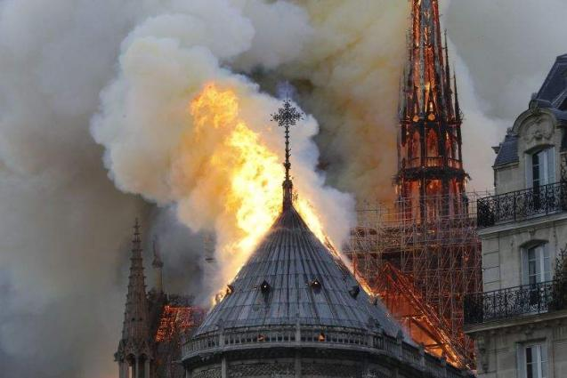 France's Iconic Notre Dame Cathedral Partially Destroyed by Fire Amid Renovation Work