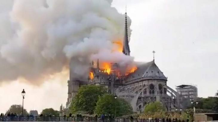 Head of Russian Orthodox Church says praying for Notre-Dame