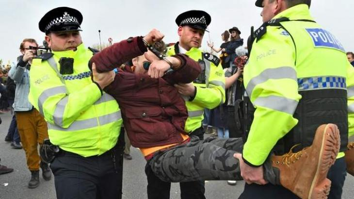 UK Police Arrest Nearly 300 Climate Change Activists in London Since Monday - Statement