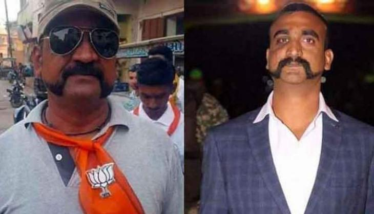 Fact check: Man in viral post supporting BJP is not IAF pilot Abhinandan