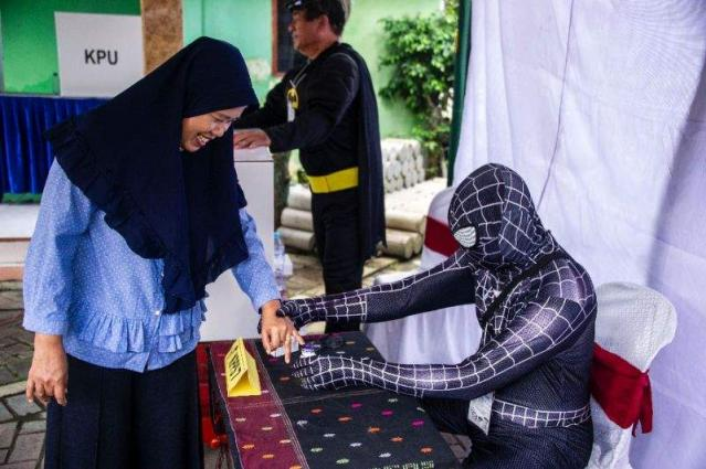 Indonesia lures voters with ghouls, superheros and tons of fun