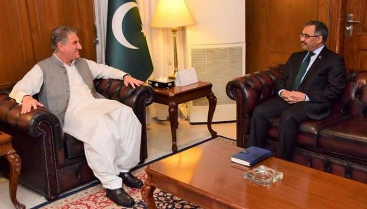 Newly appointed foreign secretary calls on foreign minister