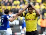 Dortmund's Sancho a doubt for Duesseldorf clash