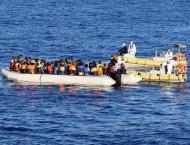 Italian navy takes rescued migrants to Genoa