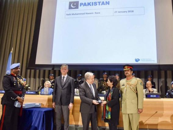 UN Secretary General awards UN medal to martyred Pak Peacekeeper