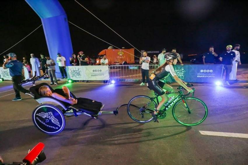 Saif Al Kaabi Wins Men's Open Race In NAS Cycling Challenge, 12-year