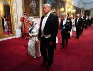 Trump turns from pomp to politics with Britain's May