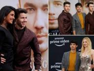 Priyanka , Sophie cheer for Nick,  Chasing Happiness premiere