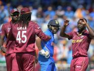 India lose Sharma early in West Indies World Cup match
