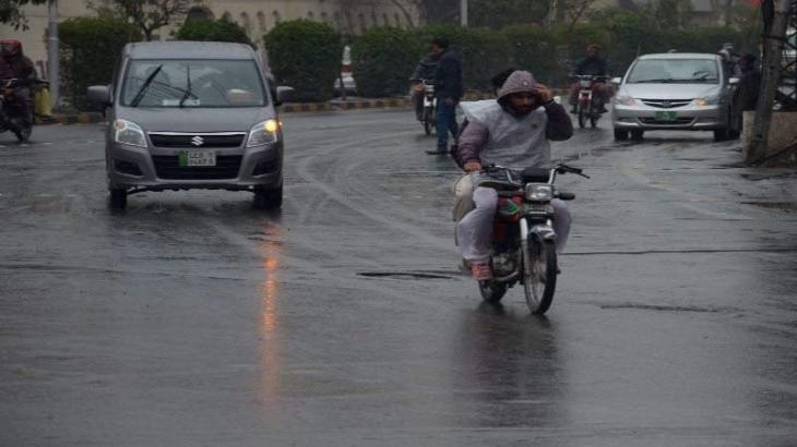 Early morning rain brings mercury down