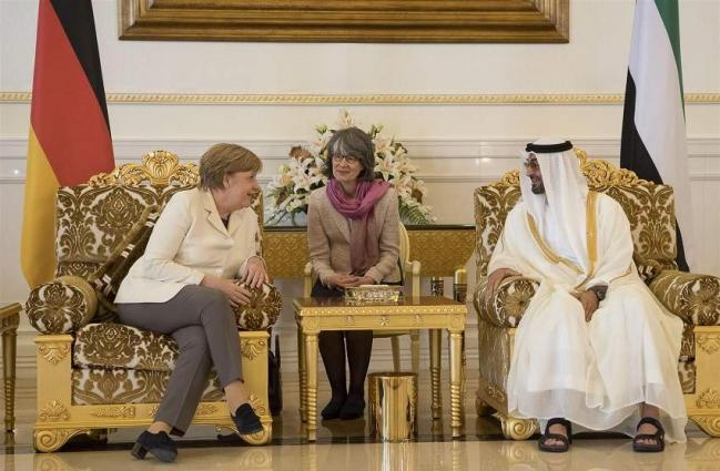 Mohamed bin Zayed, German Chancellor discuss bilateral relations