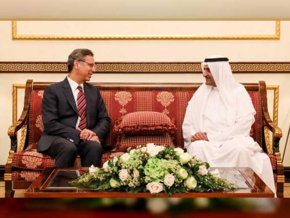 Fujairah Ruler receives outgoing Pakistani Ambassador