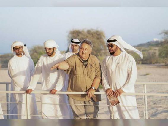 Hamdan bin Zayed visits 'Sir Bani Yas Church and Monastery