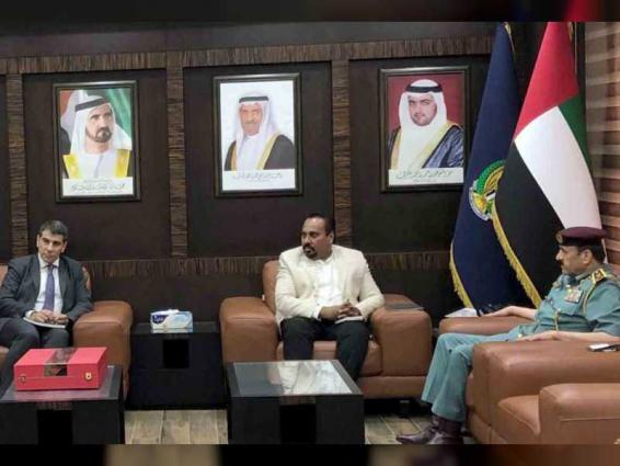 Fujairah Police Commander-in-Chief meets with UNISDR representatives