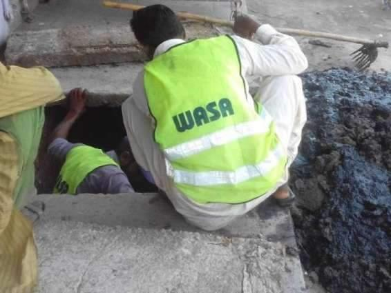 Water and Sanitation Agency (WASA) set up nine emergency camps during rains in Faisalabad