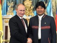 Russian President Vladimir Putin and Bolivian President Evo Mora ..