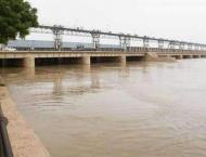 River Kabul still in medium, Indus in low flood