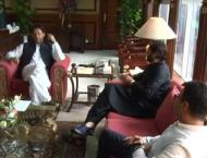 Former cricketer Shahid Afridi meets PM Imran