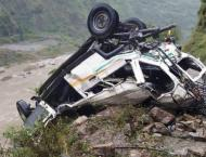 One killed, seven injured as vehicle carrying voters falls into g ..