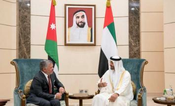 محمد بن زايد يستقبل ملك الأردن ويبحث ..