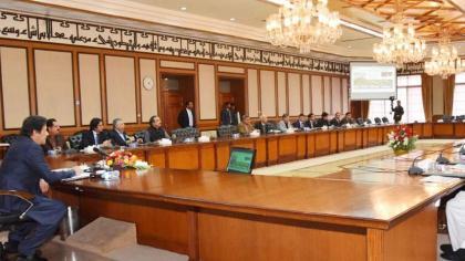 رئیس الوزراء الباکستاني عمران خان یرأس اجتماع مجلس الوزراء بعاصمة اسلام آباد