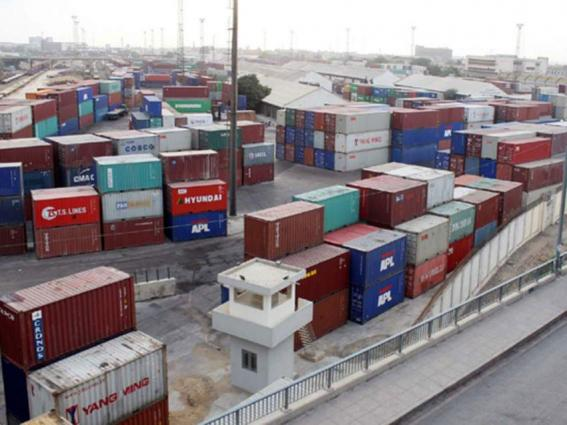 Shipping activity at Port Qasim 05 July 2019