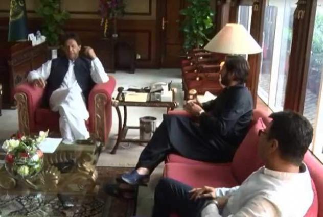 Former cricketer Shahid Afridi meets PM Imran