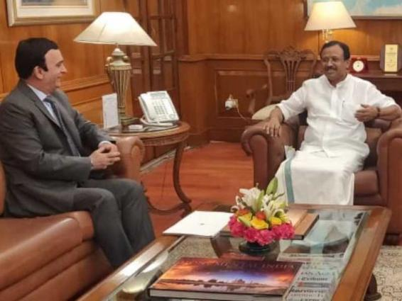UAE Ambassador to India meets with Minister of State for Foreign Affairs