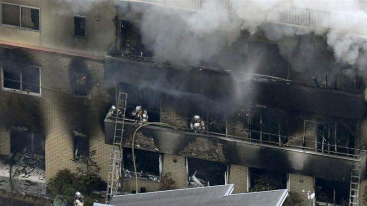 33 dead in suspected arson attack on Japan animation studio