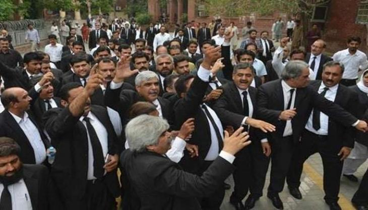 Lawyers observe strike against attack on senior advocate