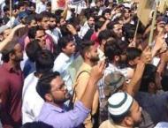 Kashmiri students hold protest in New Delhi