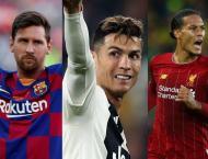 Messi, Ronaldo and Van Dijk shortlisted for UEFA awards